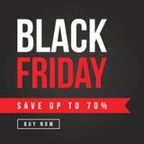 Fondo del tema de la venta de Black Friday Fotografía de archivo