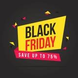 Fondo del tema de la venta de Black Friday Foto de archivo libre de regalías