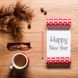 Fondo del tema del Año Nuevo Foto de archivo libre de regalías
