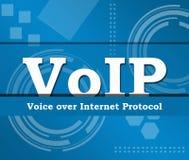 Fondo del tema del negocio de Voip Fotos de archivo