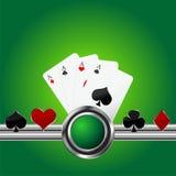 Fondo del tema del póker Imágenes de archivo libres de regalías