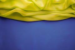 Fondo del tessuto, confine di titolo di Wave del panno, modello fotografia stock libera da diritti