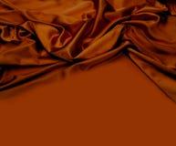 Fondo del tessuto di seta di Brown Immagine Stock