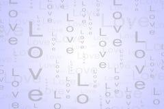 Fondo del testo di amore nel colore rosso-chiaro Fotografia Stock