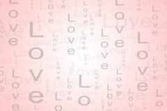 Fondo del testo di amore nel colore rosso-chiaro Immagine Stock Libera da Diritti