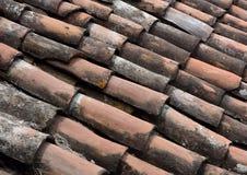 Fondo del tetto delle mattonelle della pentola Fotografia Stock