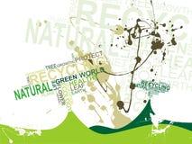 Fondo del texto de la ecología Foto de archivo libre de regalías