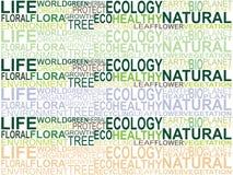 Fondo del texto de la ecología Imagen de archivo libre de regalías
