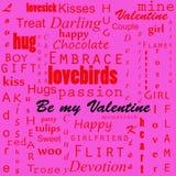 Fondo del texto de las tarjetas del día de San Valentín fotos de archivo libres de regalías