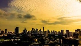 Fondo del tiempo de la puesta del sol Fotografía de archivo libre de regalías