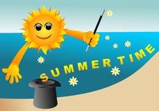 Fondo del tiempo de verano stock de ilustración