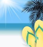 Fondo del tiempo de verano Sunny Beach Vector Illustration stock de ilustración