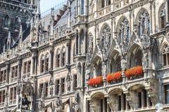 Fondo del townhall di Monaco di Baviera Immagine Stock Libera da Diritti