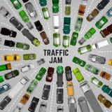 Fondo del traffico cittadino Fotografia Stock
