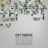 Fondo del traffico cittadino Fotografie Stock