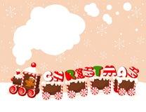 Fondo del tren de la Navidad Imágenes de archivo libres de regalías