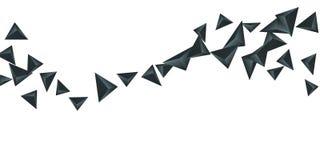 Fondo del triángulo Composición abstracta de cristales triangulares ilustración del vector