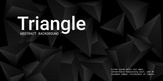 Fondo del triángulo Composición abstracta de cristales triangulares stock de ilustración