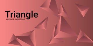 Fondo del triángulo Composición abstracta de cristales triangulares libre illustration