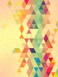 Fondo del triángulo del vintage con la línea textura de la forma libre del arte Foto de archivo libre de regalías