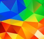 Fondo del triángulo. Polígonos coloridos. ilustración del vector