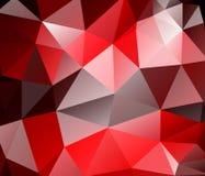 Fondo del triángulo. Polígonos rojos. libre illustration