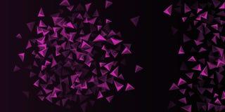 Fondo del tri?ngulo Composici?n abstracta de cristales triangulares libre illustration