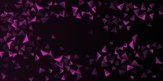 Fondo del tri?ngulo Composici?n abstracta de cristales triangulares ilustración del vector