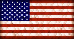 Fondo del triangolo della bandiera di U.S.A. Fotografia Stock