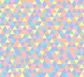 Fondo del triangolo, modello senza cuciture nei colori pastelli royalty illustrazione gratis