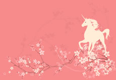 Fondo del unicornio de la primavera stock de ilustración