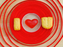 Fondo del uValentine del amor de Wordi Foto de archivo libre de regalías
