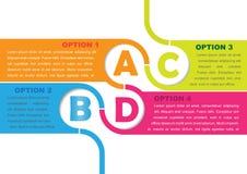 Fondo del vector con cuatro opciones ABCD libre illustration