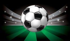 Fondo del vector con el balón de fútbol Fotos de archivo libres de regalías