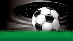 Fondo del vector con el balón de fútbol Imagenes de archivo