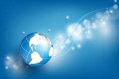 Fondo del vector con el globo Foto de archivo libre de regalías