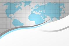Fondo del vector con el mapa del mundo Fotografía de archivo libre de regalías