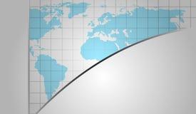 Fondo del vector con el mapa del mundo Foto de archivo libre de regalías