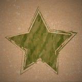 Fondo del vector con la estrella del camuflaje del grunge vendimia retro stock de ilustración