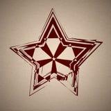 Fondo del vector con la estrella del grunge stock de ilustración