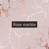 Fondo del vector con la imitación del oro color de rosa Imagen de archivo