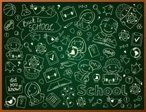 Fondo del vector con la pizarra de la escuela stock de ilustración