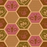 Fondo del vector con las abejas para su diseño Foto de archivo libre de regalías