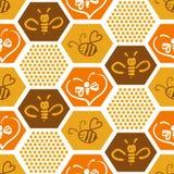 Fondo del vector con las abejas para su diseño Imagen de archivo