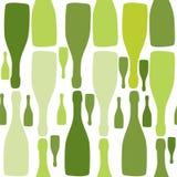 Fondo del vector con las botellas. Foto de archivo