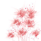 Fondo del vector con las flores Imágenes de archivo libres de regalías