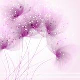 Fondo del vector con las flores Fotos de archivo