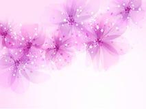 Fondo del vector con las flores Imagenes de archivo