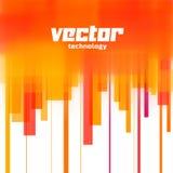 Fondo del vector con las líneas borrosas naranja Fotos de archivo