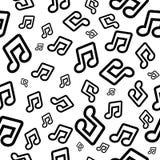 Fondo del vector con las notas musicales Modelo inconsútil para el papel pintado o el papel de embalaje ilustración del vector